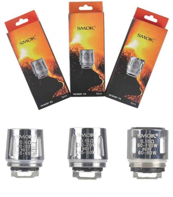 Smok TFV8 Baby, TFV8 Big Baby, kit Stik V8 - Head Coil