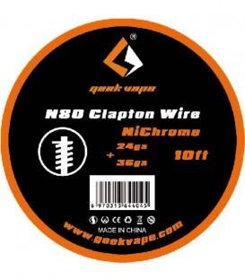 Maggiori dettagli di GEEKVAPE N80 FUSED CLAPTON WIRE - (24GA + 36GA) - 3M