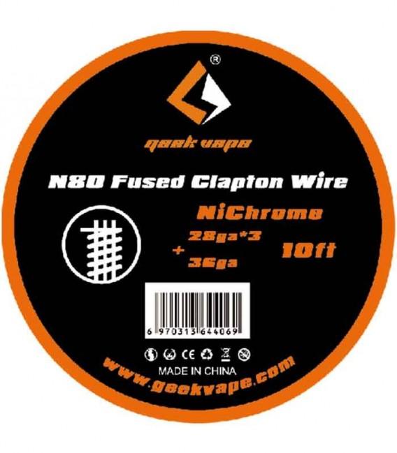 GEEKVAPE N80 FUSED CLAPTON WIRE - (28GAX3+36GA) - 3M