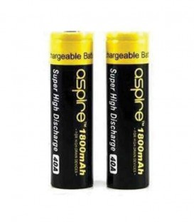 Aspire Li-on ICR 3.7V - 18650 - 1800mAh - 40A