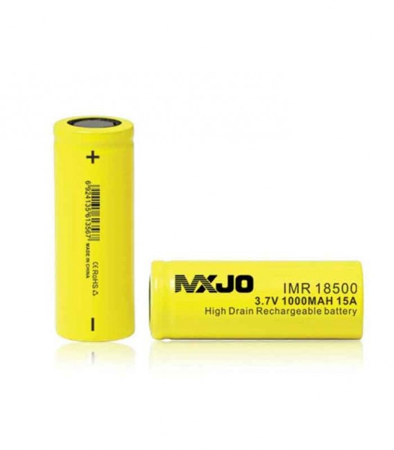 MXJO  IMR 3.7V - 18500 - 1000mAh - 15A