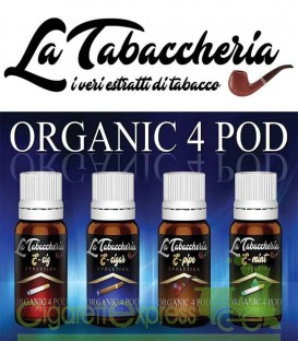 """Maggiori dettagli di """"Organic 4 POD"""" by La Tabaccheria - Estratto concentrato 10ml"""