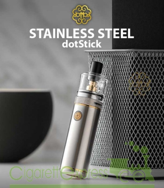 dotStick Stainless Steel - 18350/18650 Kit - dotMOD
